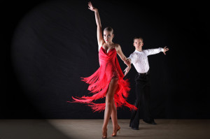 Latin and Ballroom Dance Photo 2013 of a young couple performing
