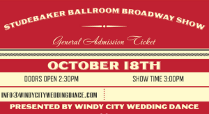 Picture of the Tickets Studebaker Ballroom Broadway Show Event by Windy City Wedding Dance