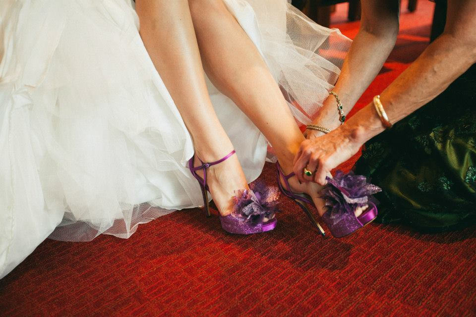 Beautiful Purple Wedding Dance Shoes