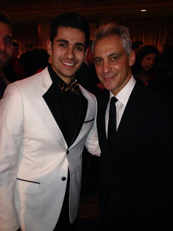 Wedding Student with Chicago Mayor