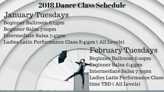 2018 Dance Class Schedule January February