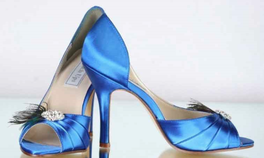 Image of Blue Wedding Shoes form Windy City Wedding Dance