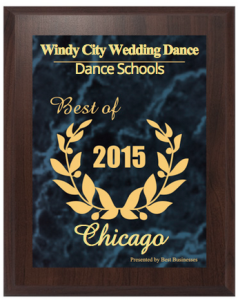 Image of the plaque for best dance school in chicago