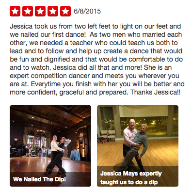 Matthew and Jon Yelp Review Windy City Wedding Dance
