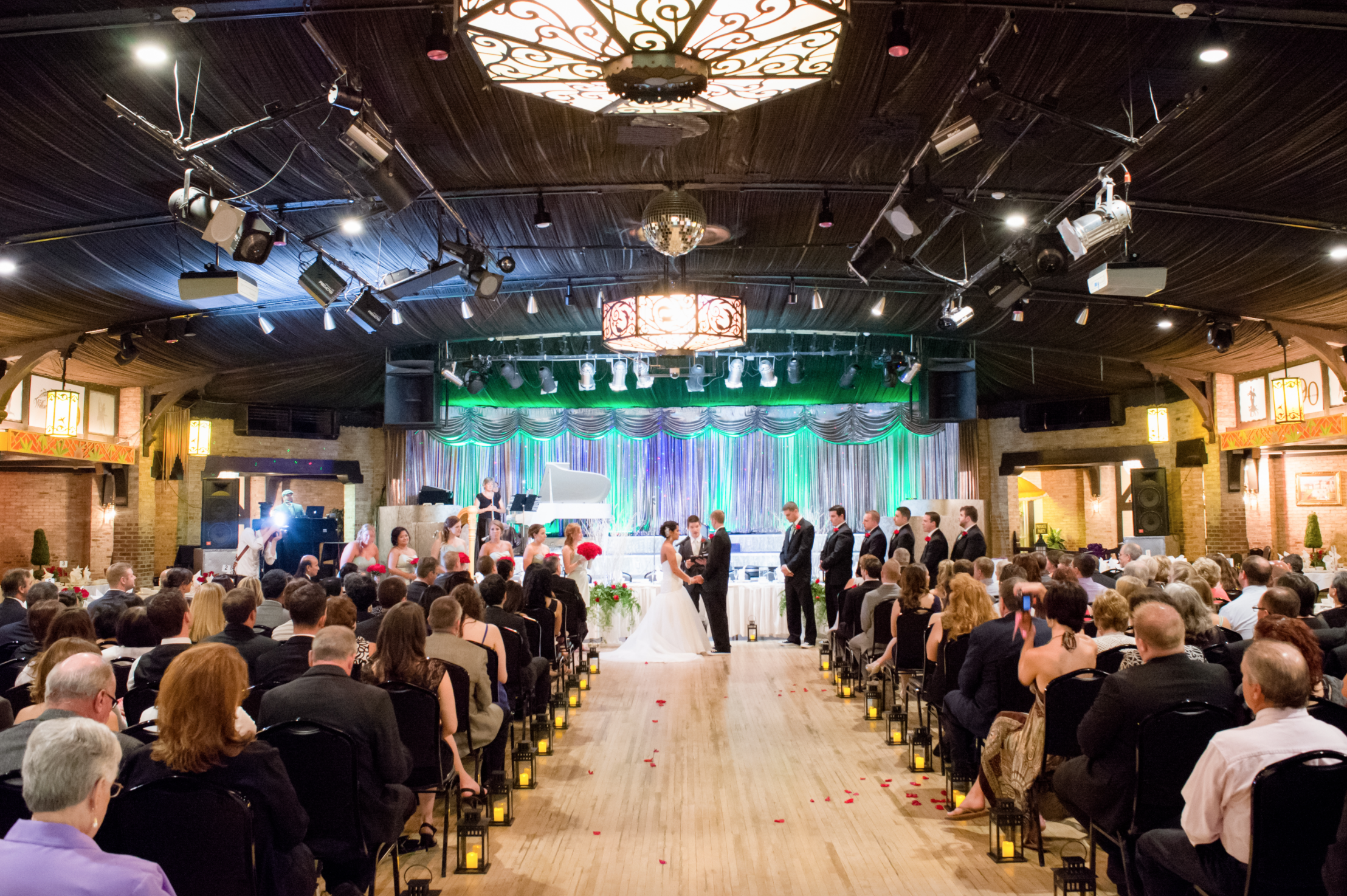 Photo of a wedding at the Willowbrook Ballroom